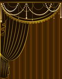 The vintage curtain. Royalty Free Stock Photos