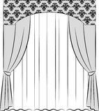 The vintage curtain. Stock Image