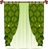 The vintage curtain. Stock Images