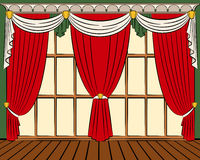 The vintage curtain. Royalty Free Stock Photo