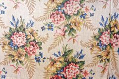 Vintage Curtain Fabric royalty free stock images