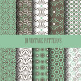 Vintage curve pattern set 1. Abstract seamless pattern set, curve and vintage concept Royalty Free Stock Photos