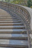 Vintage curved outdoor stairs. Dresden Germany Royalty Free Stock Photo