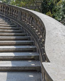 Vintage curved outdoor stairs Royalty Free Stock Images
