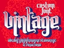 Vintage Custom Font Royalty Free Stock Photos