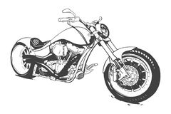 Vintage Custom Motorcicle Graphic Poster Illustration. stock illustration