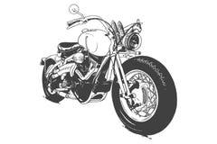 Vintage Custom Motorcicle Graphic Poster Illustration. royalty free illustration