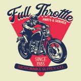 Vintage custom motorcycle badge design vector illustration