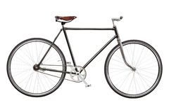 Vintage custom singlespeed bicycle isolated on white background royalty free stock photos