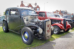 Vintage customised british ford cars. Photo of a vintage ford customised cars showing at whitstable car show in kent on 17th august 2014.photo ideal for Stock Photos