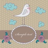 Vintage cute floral card Royalty Free Stock Photography