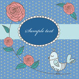 Vintage cute floral card Stock Photo