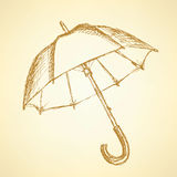 Vintage cute open umbrella in style Royalty Free Stock Images