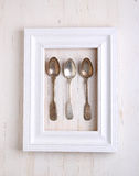 Vintage cutlery (spoon ) Royalty Free Stock Photo