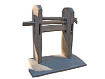 Vintage cutting wool wooden machine tool isolated Stock Photos