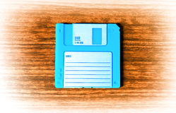 Vintage cyan floppy disc illustration Stock Photo