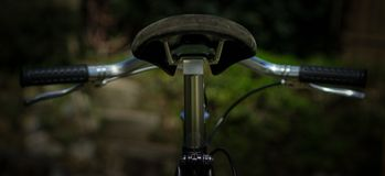 Vintage cycle handlebar and seat Stock Images