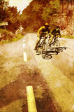 Vintage cyclists Royalty Free Stock Photo