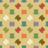 Vintage cylinder hat seamless pattern Stock Photography