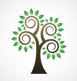 Vintage dénommé d'arbre illustration libre de droits