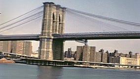 Vintage d'Empire State Building banque de vidéos