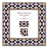 Vintage 3D frame 173 Arrow Geometry Stock Photography