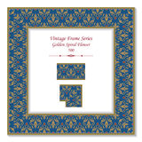 Vintage 3D frame 500 Golden Spiral Flower. Antique patterns 3D frame can be used for web page, greeting card decoration Royalty Free Stock Image