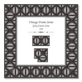 Vintage 3D frame 189 Grey Curve Line. Antique retro abstract seamless pattern frame and background can be used for wallpaper, web page background, surface vector illustration