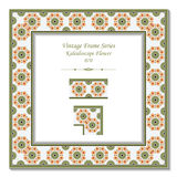Vintage 3D frame 070 Kaleidoscope Flower Stock Photography