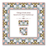 Vintage 3D frame 141 Round Curve Flower Kaleidoscope Royalty Free Stock Photos