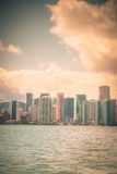 Vintage d'horizon de Miami Image stock