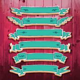Vintage 3D Ribbons Set Stock Image