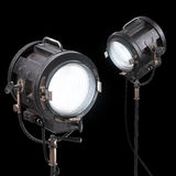Vintage 3d Theater Spotlight or Movie Studio Light Royalty Free Stock Photography