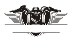 Vintage da asa da motocicleta Fotografia de Stock