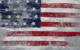 Vintage da bandeira americana Símbolo nacional dos EUA Estrelas e listras foto de stock