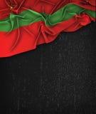 Vintage da bandeira de Transnistria em um quadro do preto do Grunge Imagens de Stock