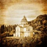 Vintage da catedral de San Biagio em Montepulciano Fotografia de Stock Royalty Free