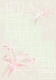 Vintage da flor do fundo Imagens de Stock Royalty Free