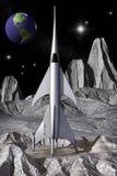 Vintage da nave espacial de Rocket Fotos de Stock