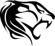 Vintage da tatuagem do tigre ilustração stock