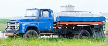 Vintage dairy truck Stock Photo