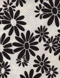 Vintage Daisy Fabric Background blanco y negro Imagen de archivo libre de regalías