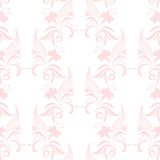 Vintage damask floral ornament pattern in pink Stock Photo