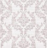Vintage damask flourish ornamented pattern Vector. Victorian Royal texture. Flower decorative design. Lavender color decors stock illustration