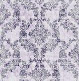 Vintage damask flourish ornamented pattern Vector. Victorian Royal texture. Flower decorative design. Purple color decors stock illustration