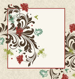 Vintage damask invitation card Stock Photography