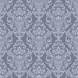 Vintage damask ornamental seamless pattern. Damask seamless pattern for design. Vector Illustration stock illustration