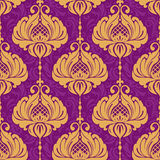 Vintage damask ornamental seamless pattern Royalty Free Stock Photos