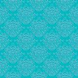 Vintage damask pattern linear vector background Stock Photo