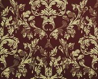 Vintage Damask pattern Vector ornament decor. Baroque grunge background textures. Royal victorian trendy designs Stock Photography